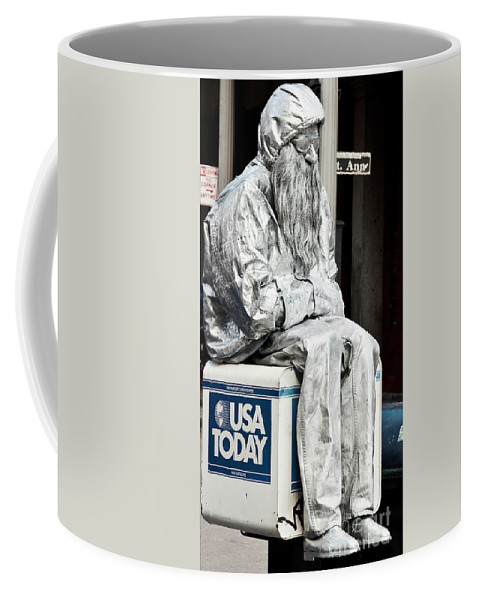 Photography Coffee Mug featuring the photograph Newsworthy Mime by Kathleen K Parker