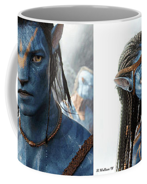 3d Coffee Mug featuring the photograph Neytiri and Jake - Gently cross your eyes and focus on the middle image by Brian Wallace