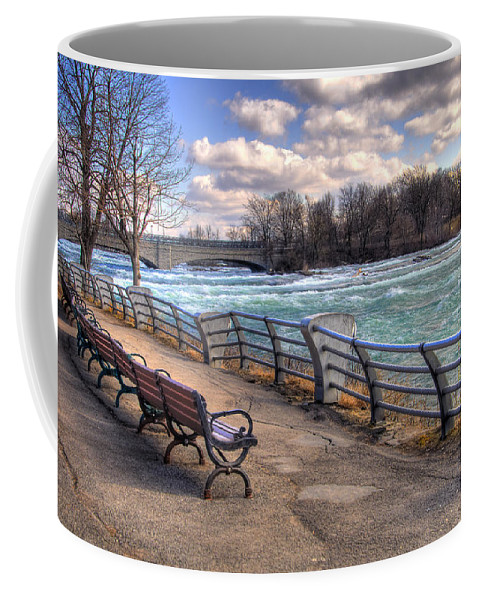 Niagara Falls Coffee Mug featuring the photograph Niagara Rapids In Early Spring by Tammy Wetzel