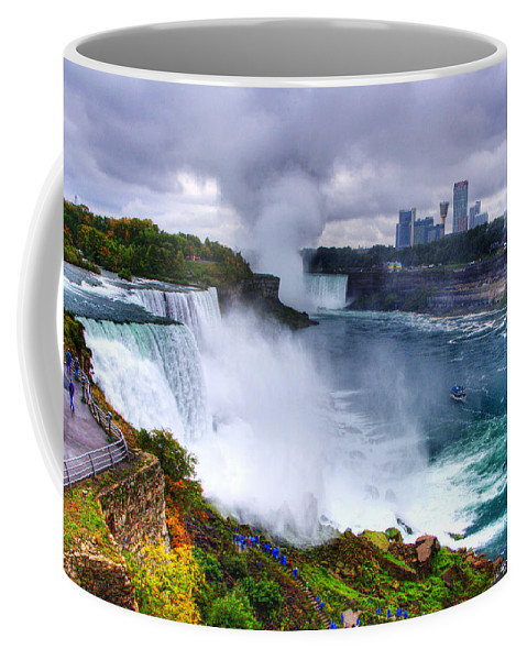 Water Coffee Mug featuring the photograph Niagra by Ches Black
