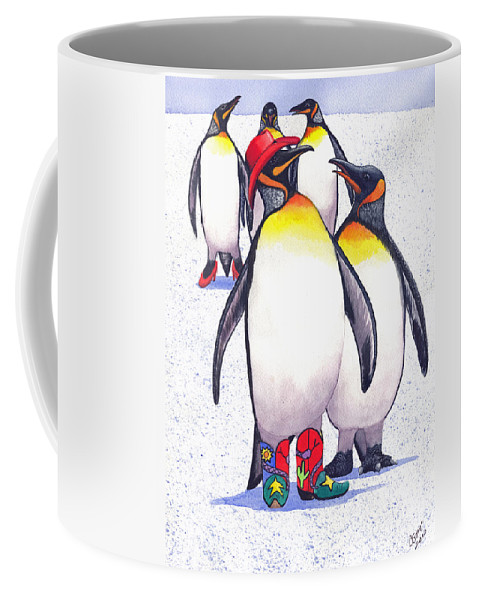 Penguin Coffee Mug featuring the painting Nice Hat by Catherine G McElroy