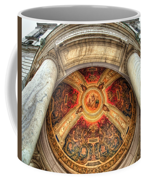 Olv Coffee Mug featuring the photograph Niche Inlay 2-our Lady Of Victory Basilica by Tammy Wetzel