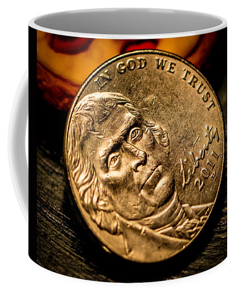 Currency Coffee Mug featuring the photograph Nickel by Ronald Raymond