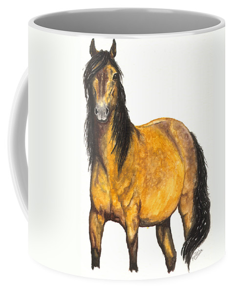 Horse Coffee Mug featuring the painting Nifty by Kristen Wesch