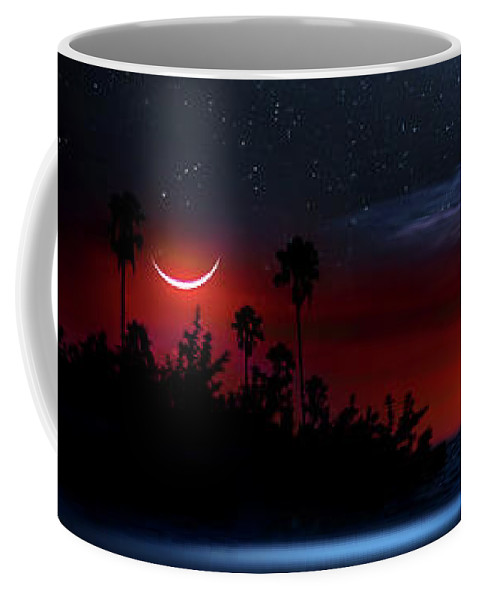 Pirate Coffee Mug featuring the photograph Night At Pirate's Lagoon by Mark Andrew Thomas