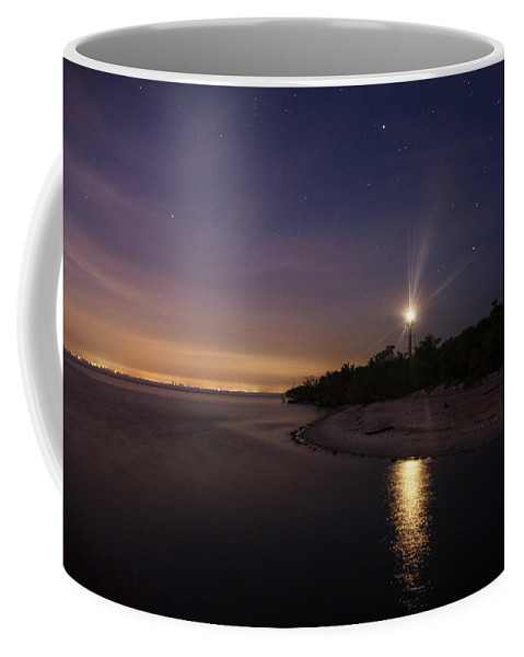 Sanibel Island Coffee Mug featuring the photograph Night At The Sanibel Lighthouse by Chrystal Mimbs