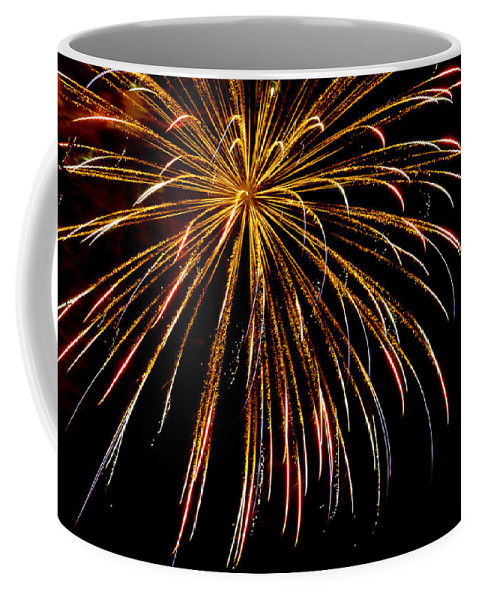July 4th Coffee Mug featuring the photograph Night Colors by Phill Doherty