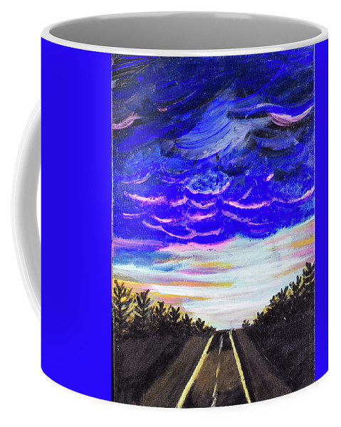 Coffee Mug featuring the painting Night Drives #2 by Allison Karczynski
