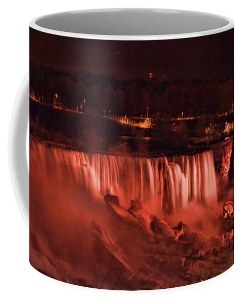 Niagara Coffee Mug featuring the photograph Night Falls by Traci Cottingham