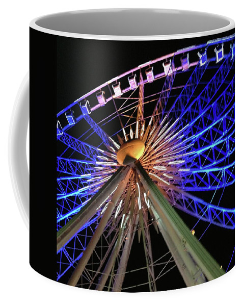 Ferris Wheel Coffee Mug featuring the photograph Night Fun by Amy Craft