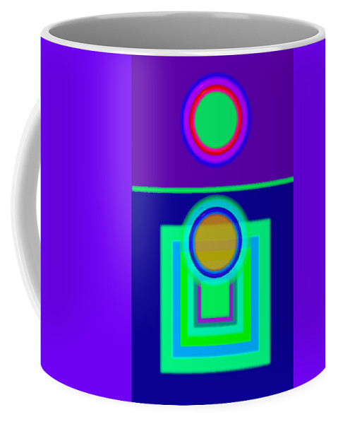 Classical Coffee Mug featuring the digital art Night Game by Charles Stuart