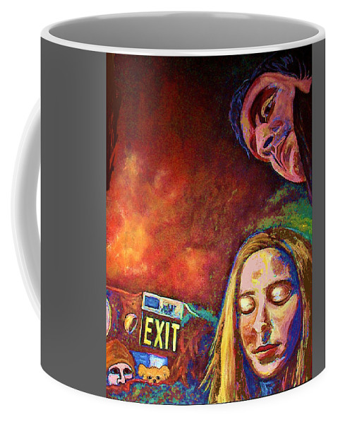 Girl Portrait Coffee Mug featuring the painting Night In The City by Frances Gillotti
