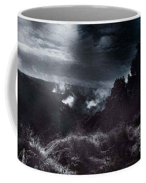 Australian Coffee Mug featuring the photograph Night Landscape. Australian Mountain View by Jorgo Photography - Wall Art Gallery