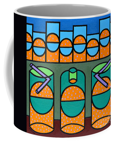 Bubbles Coffee Mug featuring the painting Night Life by Patrick J Murphy