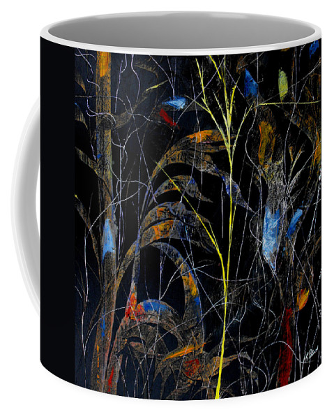 Abstract Coffee Mug featuring the painting Night Life by Ruth Palmer