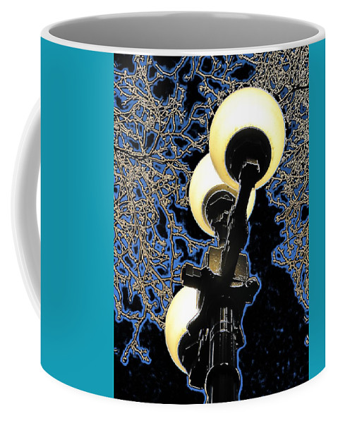 Night Coffee Mug featuring the photograph Night Lights 2 by Tim Allen