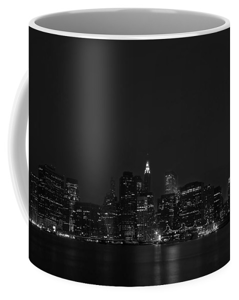 Bridge Coffee Mug featuring the photograph Night Lights by Evelina Kremsdorf