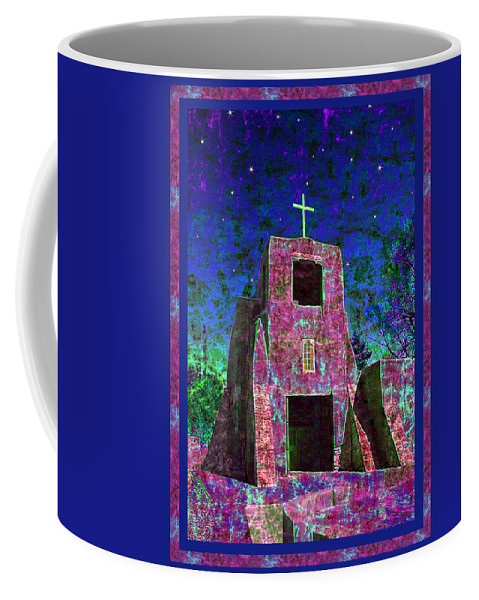 Mission Coffee Mug featuring the photograph Night Magic San Miguel Mission by Kurt Van Wagner