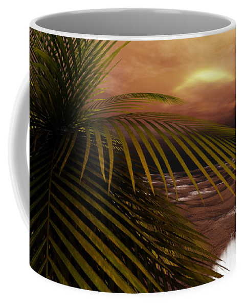 Tropical Coffee Mug featuring the digital art Night Moves by Richard Rizzo