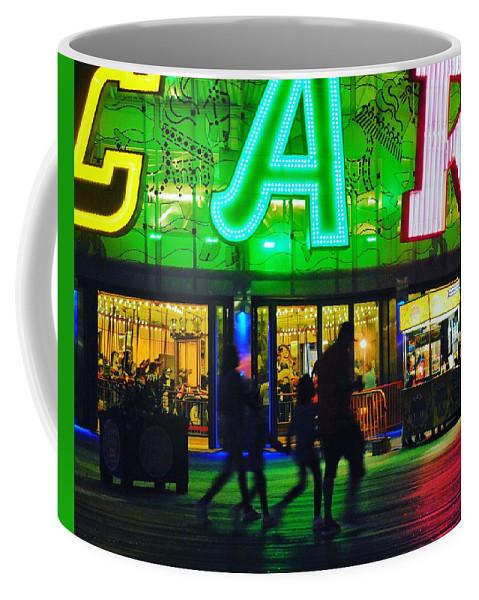 Night Time Coffee Mug featuring the photograph Night Park by Aya Edlin