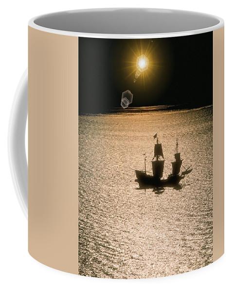 Sail Coffee Mug featuring the photograph Night Sail by Tim Allen