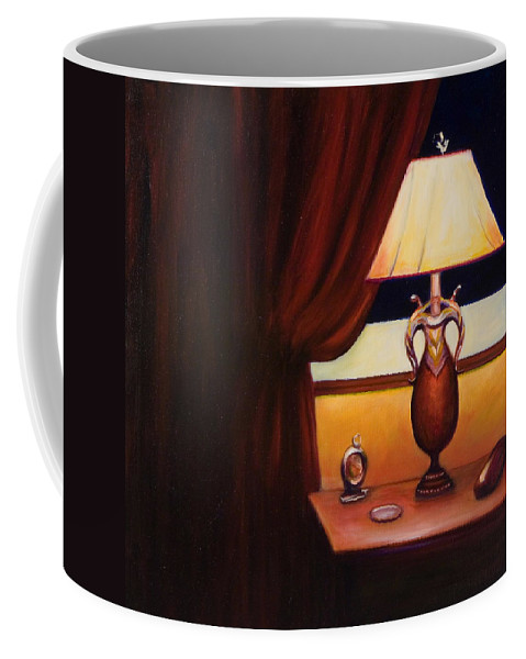 Still Life Red Coffee Mug featuring the painting Night by Shannon Grissom