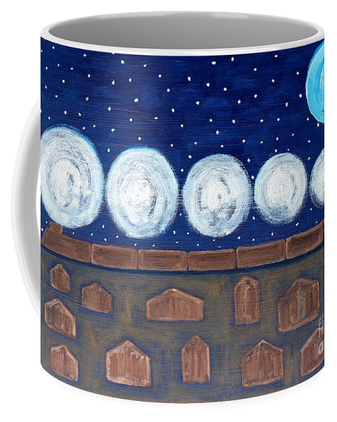 Night Train Coffee Mug featuring the painting Night Train by Patrick J Murphy
