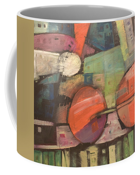 Train Coffee Mug featuring the painting Night Train by Tim Nyberg