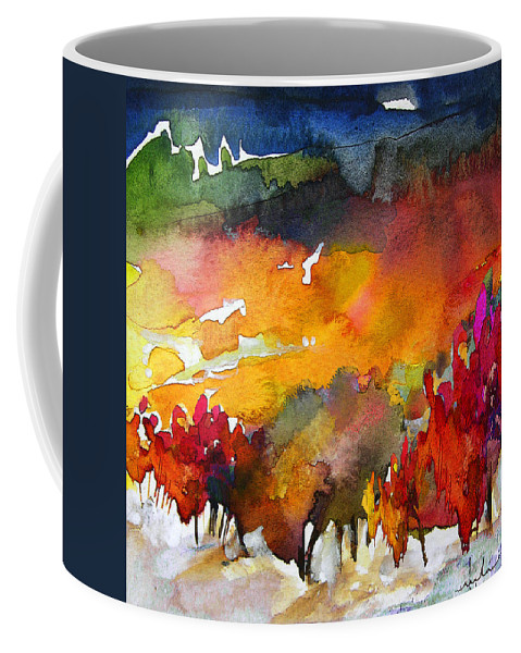 Watercolour Coffee Mug featuring the painting Nightfall 06 by Miki De Goodaboom