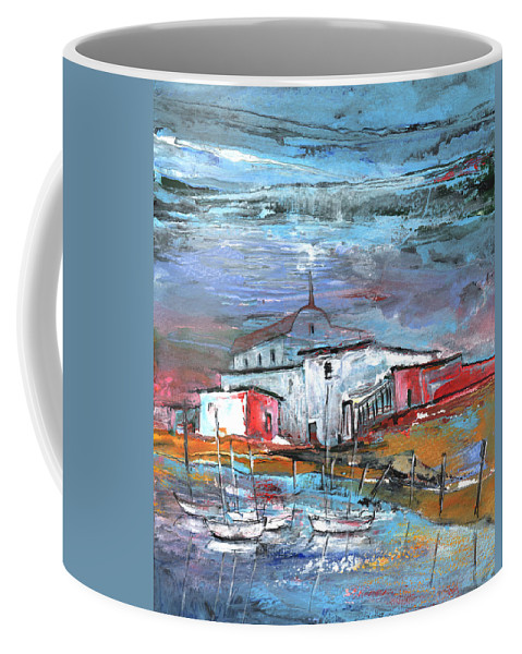 Landscapes Coffee Mug featuring the painting Nightfall 23 by Miki De Goodaboom