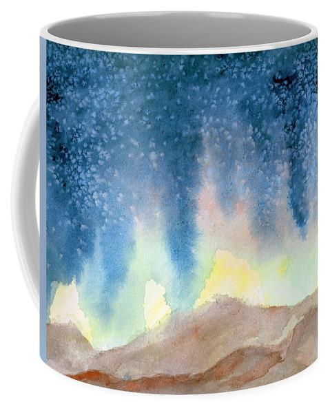 Nightfall Coffee Mug featuring the painting Nightfall by Andrew Gillette