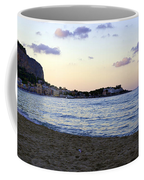 Nightfall Coffee Mug featuring the photograph Nightfalls Over The Mediterranean by Madeline Ellis