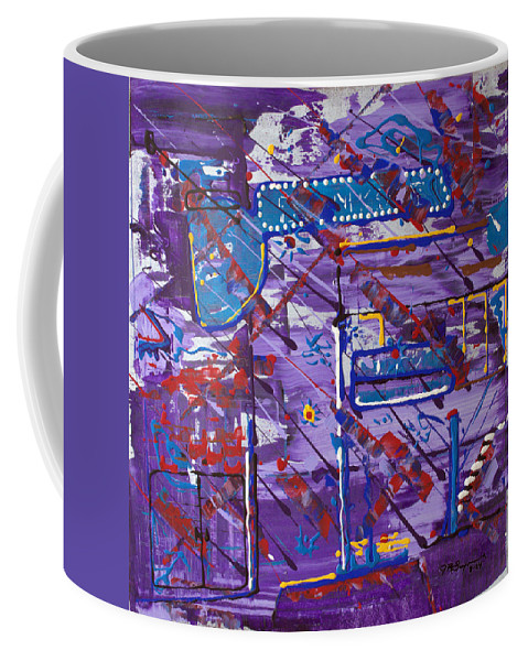 Cityscape Coffee Mug featuring the painting Nightlife Lights by J R Seymour