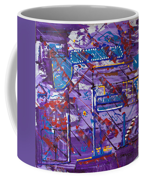 Abstract Painting Coffee Mug featuring the painting Nightlife Lights by J R Seymour