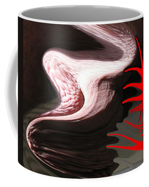 Red Coffee Mug featuring the photograph Nightmare by Allan Hughes