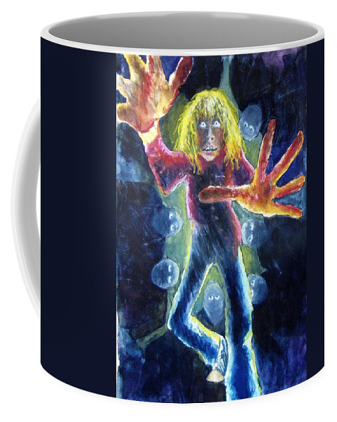 Nightmare Coffee Mug featuring the painting Nightmare by Nancy Mueller
