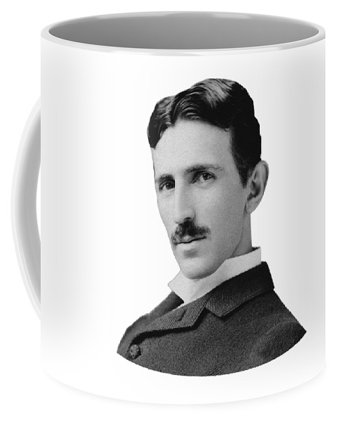 Nikola Tesla Coffee Mug featuring the photograph Nikola Tesla - Circa 1890 by War Is Hell Store