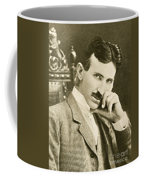 Science Coffee Mug featuring the photograph Nikola Tesla, Serbian-american Inventor by Photo Researchers