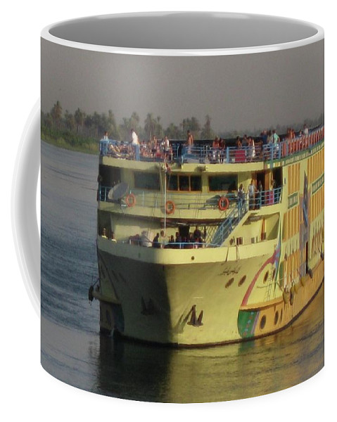 Cruise Ship Coffee Mug featuring the photograph Nile Cruise Ship by John Malone