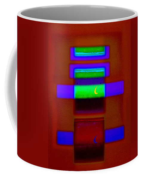 Rothko Coffee Mug featuring the painting Nile Totem by Charles Stuart
