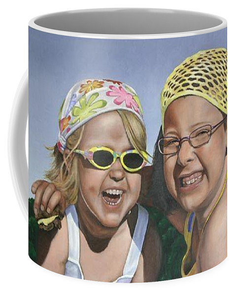 Portrait Coffee Mug featuring the painting Nina And Francis by Rob De Vries