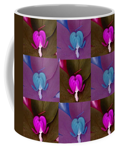 Bleedinghearts Coffee Mug featuring the mixed media Nine Piece Of Popart by Pepita Selles