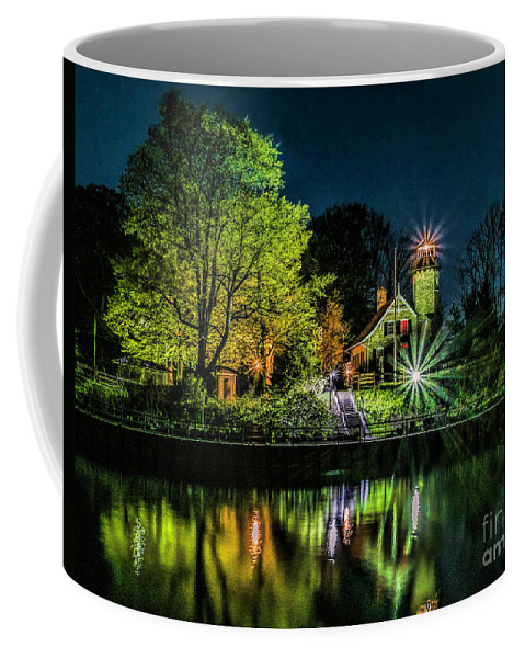 Great Lakes Coffee Mug featuring the photograph Nite At White River Light by Nick Zelinsky