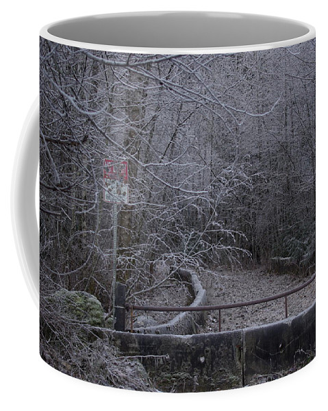 No Coffee Mug featuring the photograph No Entry by Cindy Johnston