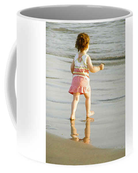 Beach Coffee Mug featuring the photograph No Fear by Margie Wildblood