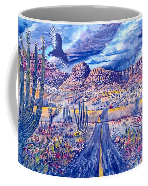 Wildlife Coffee Mug featuring the painting No Gas by Don Hand