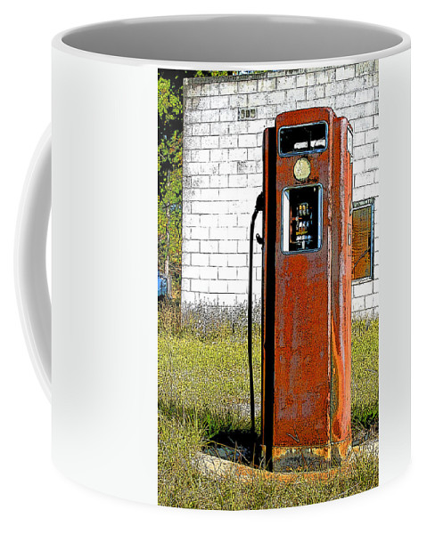 Gas Station Coffee Mug featuring the photograph No Gas Today by Shirley Sykes Bracken