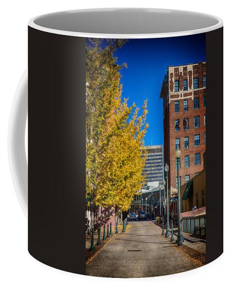 John Haldane Coffee Mug featuring the digital art No One Occupying Wall Street by John Haldane
