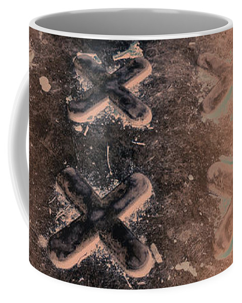 Metal Coffee Mug featuring the photograph No O's - Negative In Copper by Caitlyn Grasso