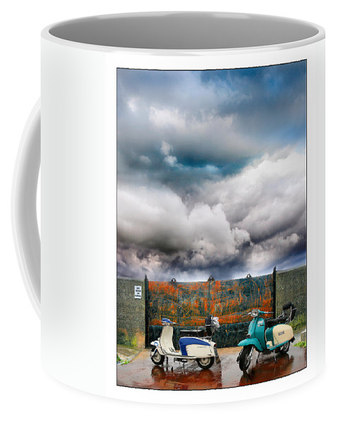 Scooters Coffee Mug featuring the photograph No Parking by Mal Bray